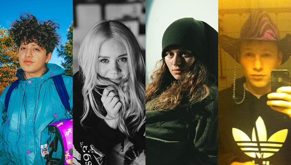 De fire nominerte til Spellemann 2020 i kategorien Årets Internasjonale Suksess, boy pablo, Caroline Ailin, girl in red og Payday.
