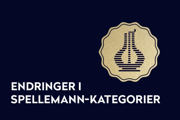 Endringer i Spellemann-kategorier